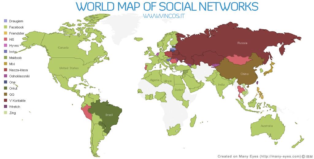 <b>El mapa mundial</b> de las redes