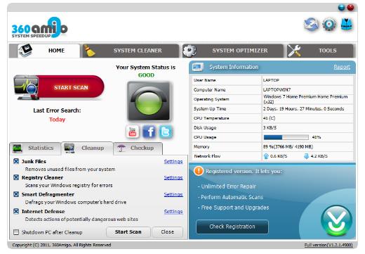 360amigo system speedup free 1 2 1 6700