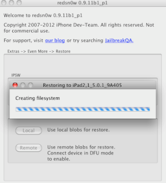 Nueva actualización Redsn0w 0.9.11b1 ahora permite downgrade para el iPad 2, 3, y iPhone 4S
